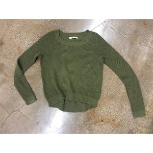 Old navy green knit pullover sweater top thermal